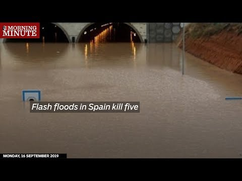 Flash floods in Spain kill five