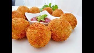 How to make Potato balls/FRIED POTATO BALLS/ Easy Homemade potato nuggets (COOKING WITH HADIQA)