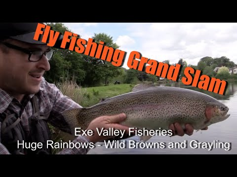 Fly Fishing Grand Slam with Lewis Hendrie (Big Rainbows, Wild Brown Trout & Grayling Fly Fishing