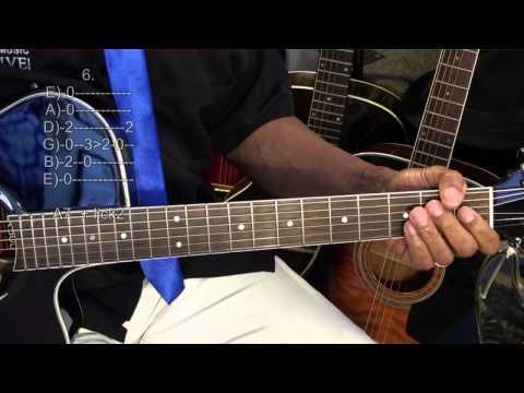 EASY IMPOSSIBLE GUITAR Single Chord Strum Slow Blues + Licks Prt1 Lesson #7B Key E