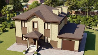 Проект дома 170-A, Площадь дома: 170 м2, Размер дома:  14,1x10 м