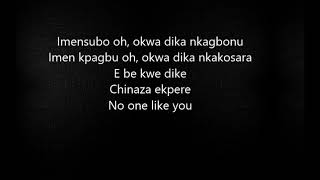 Semah X Flavour  No One Like You (Lyrics)