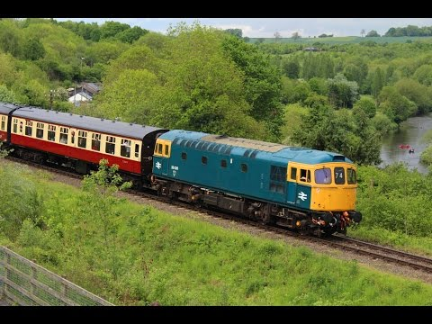 BR Blue 33035 departs Highley during the Severn Valley Railw…