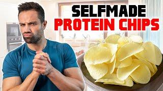 Diät Kartoffelchips mit Protein Sour Cream   Lecker & Top Nährwerte