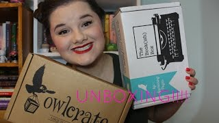 August Subscription Box Unboxing ~ The Bookish Box and OwlCrate