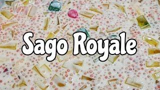 How To Make Sago Royale (Filipino Dessert, Pinoy Recipe, Pang Negosyo)
