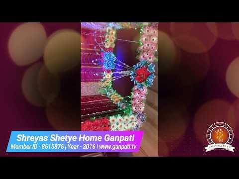 Shreyas Shetye Home Ganpati Decoration Video