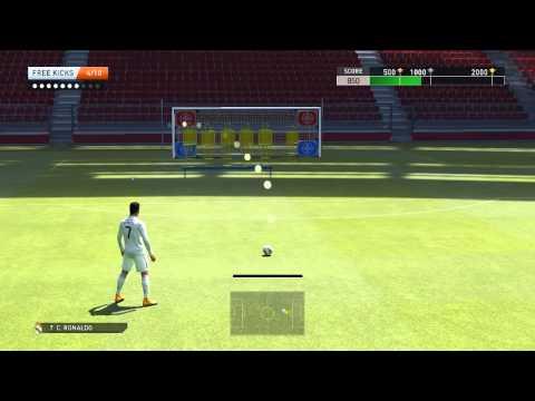 PES 2015 : Free Kicks - Training Skills - CRISTIANO RONALDO