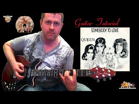 how to play queen somebody to love on guitar