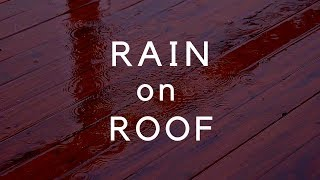 RAIN on a Roof 1 Hour (darkened) Rain Sounds on Roof for Sleep, Relaxing, Study, Noise Block