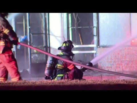 Dollar General burns along Telegraph in Brownstown Township