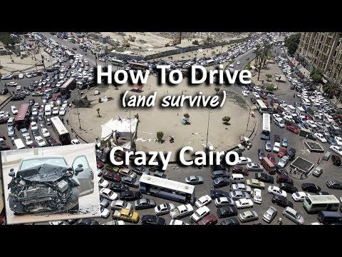 Funny guide to learn about traffic in Egypt 101