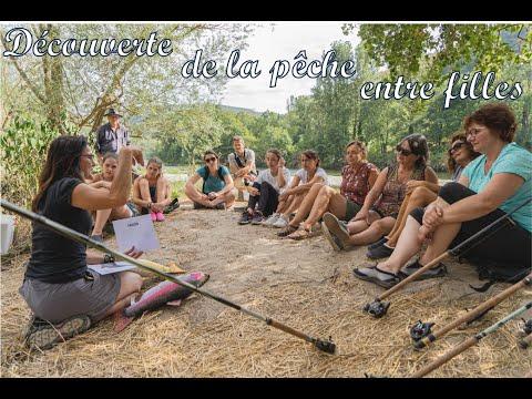 pêche entre filles en Aveyron,
