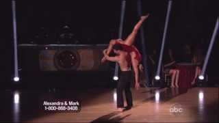 Mark Ballas and Aly Raisman dancing Contemporary on DWTS 4-8-13