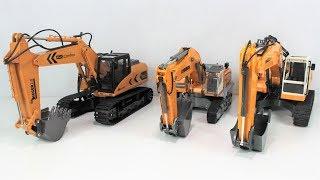 Vergleichs-Test - RC-Bagger - Siku Control Liebherr, Revell Control Digger 2.0 & Double E DIY