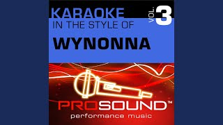 I Saw The Light (Karaoke Instrumental Track) (In the style of Wynonna Judd)