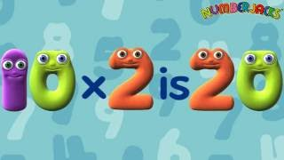 2 Times Tables Song - Numberjacks