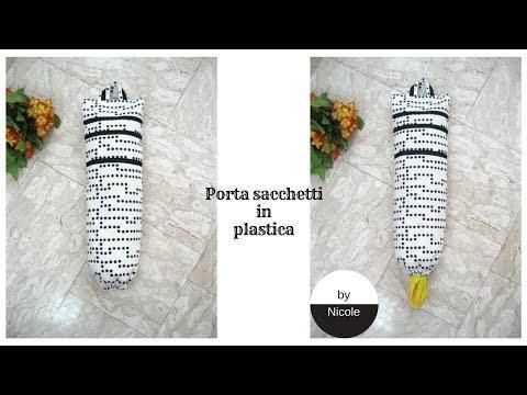 Tutorial - Come realizzare un porta sacchetti in plastica/ Plastic bag dispenser