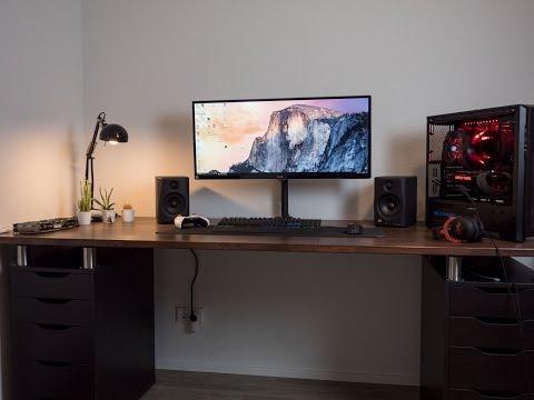 Mein Gaming / Work Setup Teil 2  - Tischfüße und Kabelmanagement