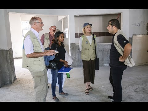 American PCRF Volunteer Visits the Cancer Department Construction in Gaza