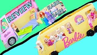 Barbie RV Motorhome FROZEN Elsa Anna Toy Review 2006 Mattel Party Bus + Barbie Train + Barbie 70s