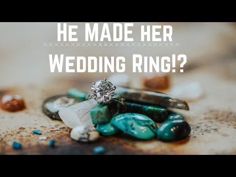 He MADE his fiancée's WEDDING RING!!