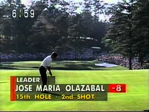 Olazabal at Masters 1994  15th hole