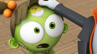 Funny Animated Cartoon | Spookiz Zizi's Brand New Chick Forehead Tattoo 스푸키즈 | Cartoon for Children