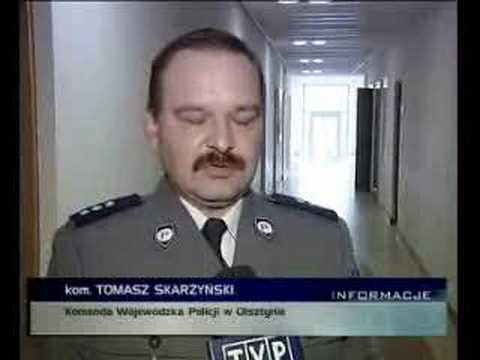Reportaż o policji i wyjeździe do Pasłęka