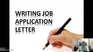 English for Workplace: Job Application Skills (Writing Job Application Letter)
