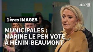 Municipales: Marine Le Pen vote à Hénin-Beaumont | AFP Images