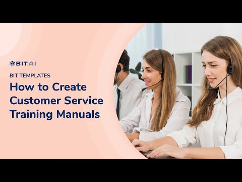 How to Create a Customer Service Training Manual | Bit documents ...