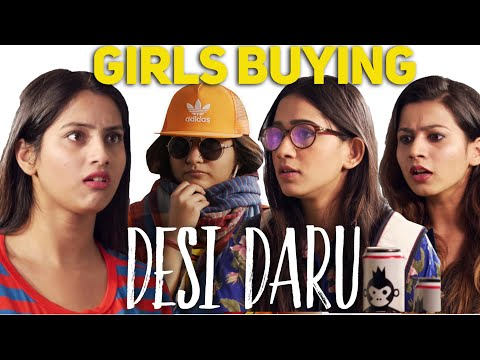 Types of Girls Buying Daru - Indian Girls at a Wine shop - ODF