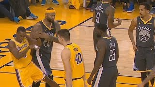 DeMarcus Cousins Shoves Rajon Rondo After Getting Angry & Trash Talks Ivica Zubac!