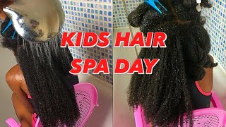 How To Wash Kids Natural Hair| Thick, Kinky, Curly Hair