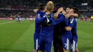 2010W杯日本-デンマーク遠藤ゴール!!