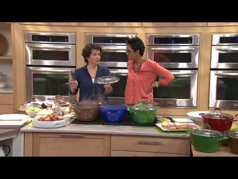 CooksEssentials 7.2qt Nonstick Lightweight Cast Iron Dutch Oven with Kerstin Lindquist
