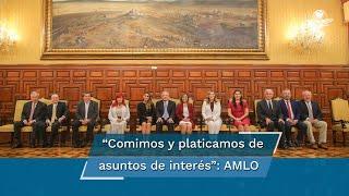 AMLO sube foto en Palacio Nacional con los 11 gobernadores electos de Morena