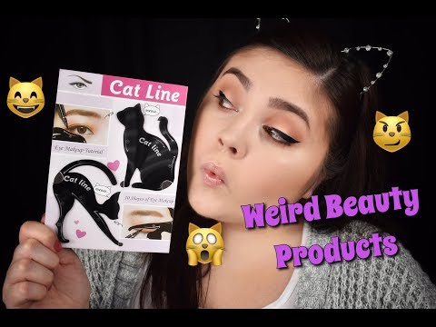 WEIRD BEAUTY PRODUCTS | Cat Eyeliner Stencils