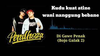 Di Gawe Penak(Bojo Galak 2)- Pendhoza Cover Visualizer Lirik