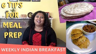 6 Tips For Weekly Indian Breakfast Meal Prep |Vlog In Bengali