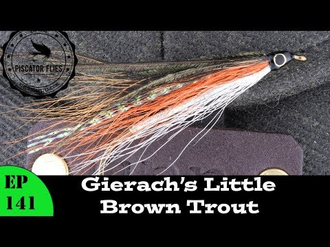 Tying John Gierach's Little Brown Trout Bucktail Fly Pattern