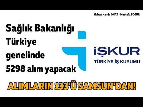 Sağlık Bakanlığı Samsun'dan 133 memur alımı yapacak