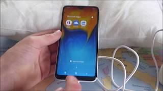 Samsung Galaxy A20e unboxing / Einrichten