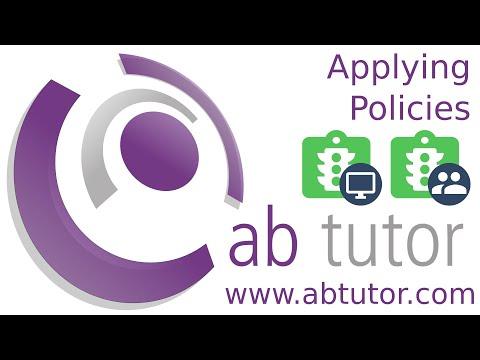 Applying policies with AB Tutor v9