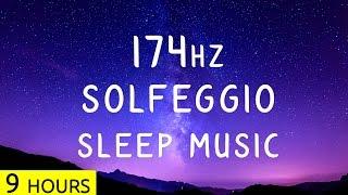 9 Hours | 174Hz - Solfeggio Sleep Music | Pain Relief Frequency Music | Sleep Meditation Music