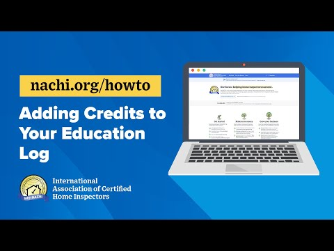 How to Add Credits to Your Education Log