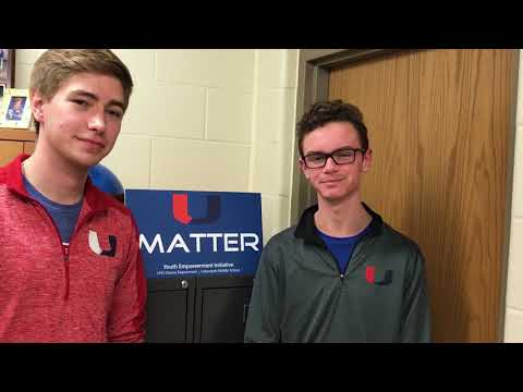 Urbandale High School Students Encourage Middle School Students To Support One Another: U MATTER
