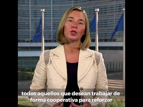 ¡Saludo de la Alta Representante de la UE, Federica Mogherini en conmemoración del Día de Europa!