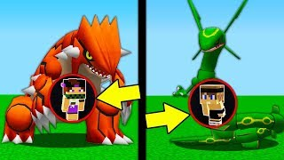 NASCONDINO GROUDON vs NASCONDINO RAYQUAZA!   Minecraft ITA